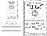 El SOL Booklet imprimible en Español. Ciencias, vocabulario. Spanish science sun