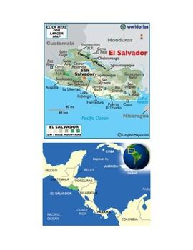 El Salvador Map Scavenger Hunt