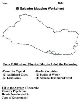 El Salvador Mapping Worksheet
