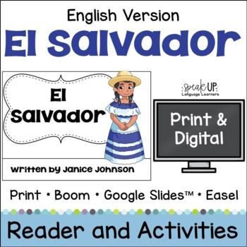 El Salvador Reader {English version} & Vocab pages ~Simplified for Young Readers