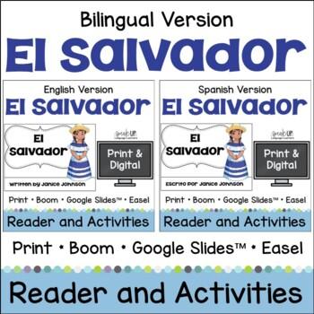 El Salvador Reader & vocab pages in English & Spanish {Bilingual version}