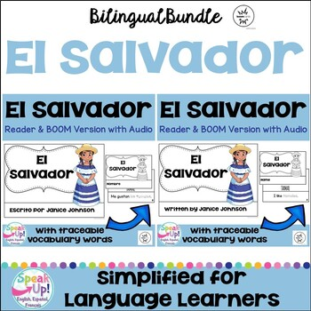 El Salvador Reader & vocab pages in English & Spanish {Bilingual Bundle}