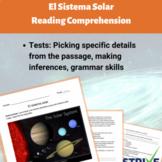 El Sistema Solar/The Solar System Reading Comprehension Wo