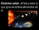 El Sistema Solar - Vocabulario - Solar System Vocabulary - Spanish