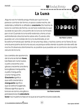 El Sistema solar: La Luna
