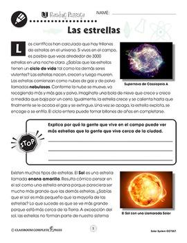 El Sistema solar: Las estrellas