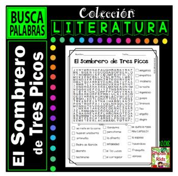 El Sombrero de Tres Picos  -Word search