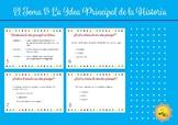 El Tema & La Idea Principal de la Historia. Spanish Task Cards.