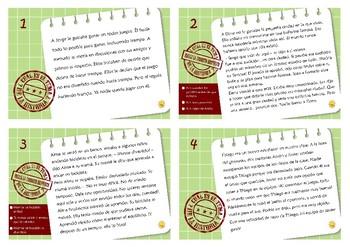El Tema la Historia, tarjeta de tarea. Spanish Theme of the Story task cards.