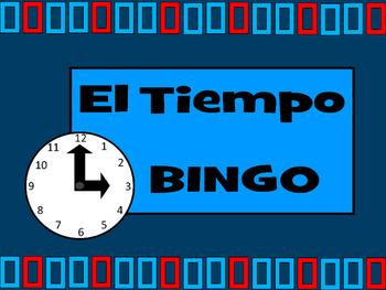 El Tiempo BINGO- Spanish Time Vocabulary