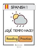 El Tiempo/Clima Reading Practice (includes answer key)
