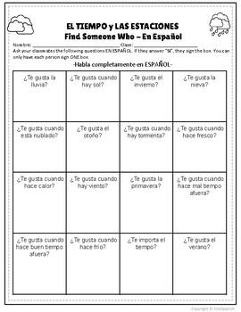 El Tiempo - Human Bingo