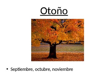 El Tiempo - Months, Seasons and Weather in Spanish