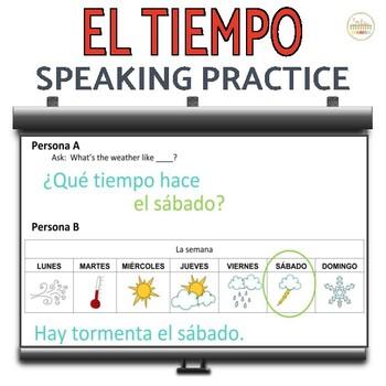 El Tiempo- Partner & Individual Speaking Practice
