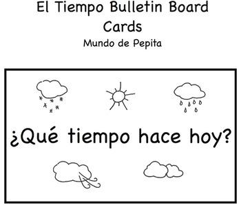 El Tiempo Printable Bulletin Board Cards