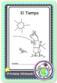 El Tiempo Weather Spanish Printable Minibook