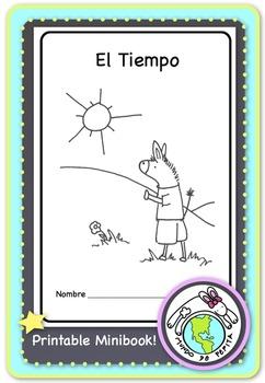 El Tiempo Weather Spanish Printable Minibook