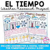 El Tiempo Spanish Weather Research Project - Distance Learning Friendly