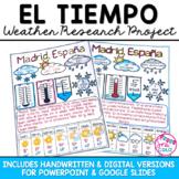 El Tiempo Spanish Weather El Clima Research Project w/ DIG
