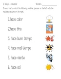 El Tiempo- Spanish Weather Vocabulary Introduction