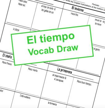 El Tiempo - Vocab Draw