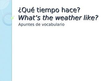 El Tiempo - Vocabulary Introduction