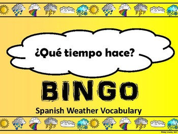 El Tiempo-Weather Bingo in Spanish