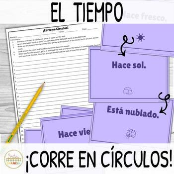 El Tiempo Weather ¡Corre en Círculos! Activity FREEBIE!