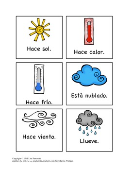 El Tiempo-Weather Vocabulary List and Flashcards in Spanish