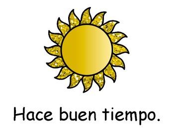 El Tiempo-Weather Vocabulary Presentation, Worksheets and Activities