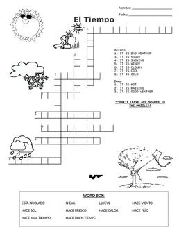 El Tiempo Wordsearch and Crossword