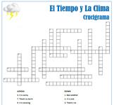 El Tiempo y La Clima: Spanish Weather Puzzles Pack