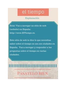 El Tiempo/Weather Website Activity