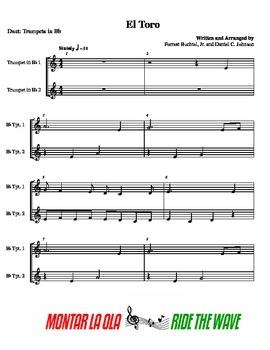 El Toro- Duet for 2 Beginner Trumpets