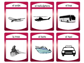 El Transporte Card Games – Transportation Vocabulary in Spanish