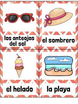 El Verano SPANISH Summer Vocabulary Word Wall