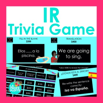 El Verbo IR Jeopardy-Style Trivia Game