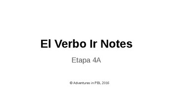 El Verbo Ir Notes