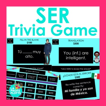 El Verbo SER Jeopardy-Style Trivia Game