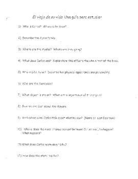 El Viaje De Su Vida study guide questions.