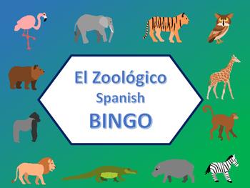 El Zoológico Bingo – Zoo Animals in Spanish