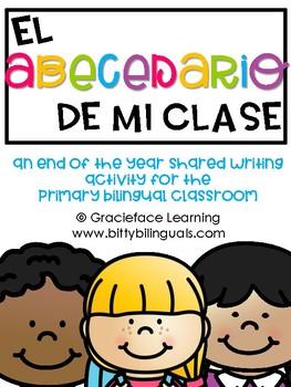 El abecedario de mi clase - End of the Year Writing for Bi