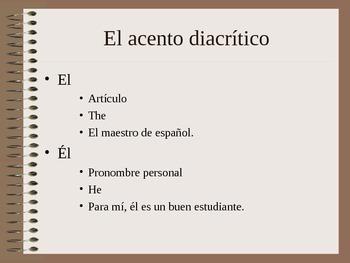 El acento diacritico