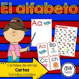 El alfabeto Spanish ABC Posters, Flash Cards, Initial Sounds Chart