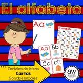 El alfabeto Spanish ABC Posters, Flash Cards, Initial Soun
