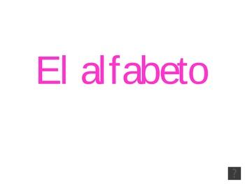 El alfabeto con audio