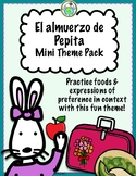 El almuerzo de Pepita Mini Theme Pack School Lunch