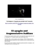 El apagón and Augmentative Suffixes