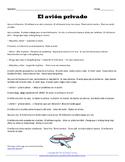 Spanish Travel Vocabulary: El avión privado