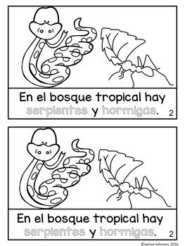 El bosque tropical ~ The Rainforest Readers {Bilingual}